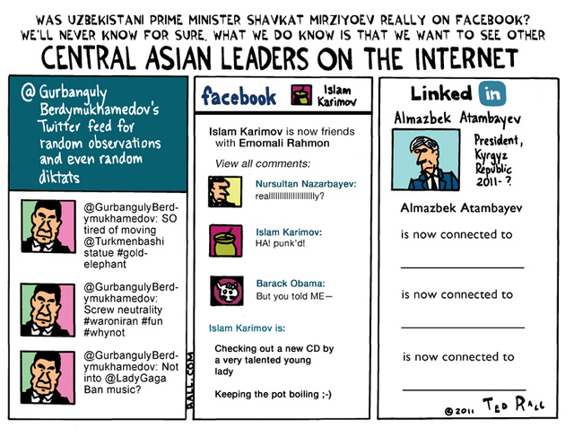 Central Asian Leaders on the Internet