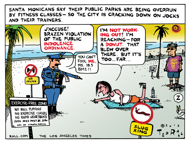 Santa Monica Exercise Crackdown